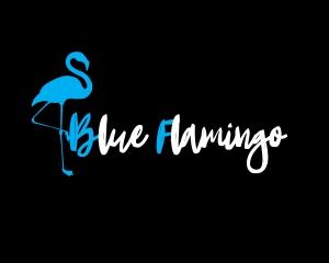 BlueFlamingoLogoNegre